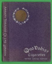 English Cigarette packet by Ardath Quo Vadis #090